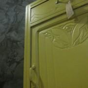 art deco kast geel 7
