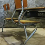 Frans vintage schoolbankje A2