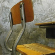 Frans vintage schoolbankje A3