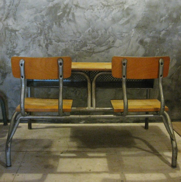 Frans vintage schoolbankje A4