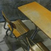 Frans vintage schoolbankje A5