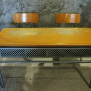 Frans vintage schoolbankje A6