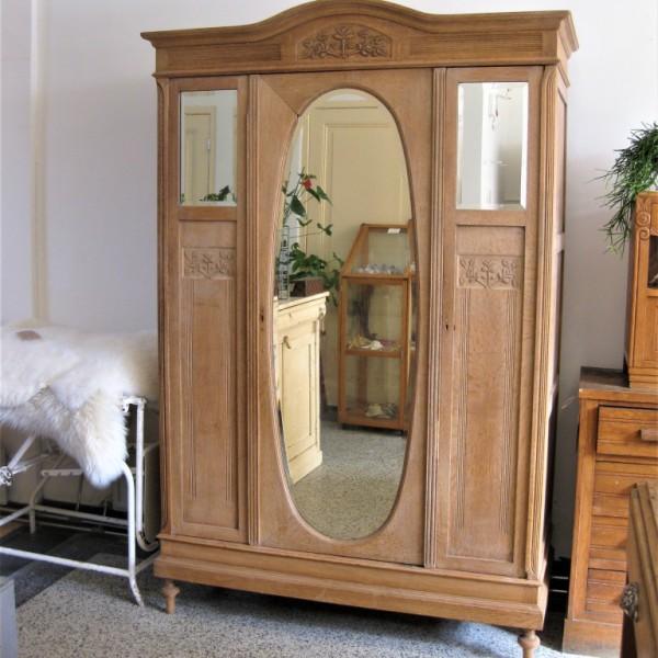 garderobekast ovale spiegel 2