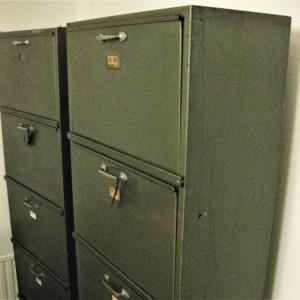 stalen archiefkasten jaren '50 1