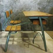 Frans vintage schoolbankje B2
